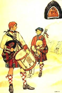 A Drummer and Piper of 78th Regt of Foot, Fraser's Highlanders, 1757-63