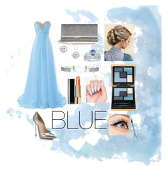""".....BLUE for the PROM....."" by shelly-marie-bulanon ❤ liked on Polyvore featuring Casadei, Jimmy Choo, Disney, Yves Saint Laurent and Luminess Air"