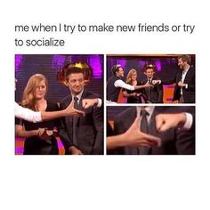 me when I try to make new friends or try to socialize 26 Memes That Will Only Be Funny If You're Socially Awkward . from Items tagged as Friends Meme Funny Shit, The Funny, Hilarious, Funny Stuff, Awkward Funny, Funny Things, Funny Relatable Memes, Funny Posts, Funny Quotes