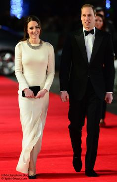 Kate Brings Back Roland Mouret Lombard Gown For Mandela Première - Duchess Kate