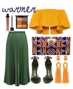 """warmer"" by karina-araya on Polyvore featuring Oscar de la Renta, Vanessa Bruno, Schutz, ASPIGA, MAC Cosmetics and Jouer"