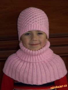 Konečně jsem přišla na to,  jak uháčkovat dostatečně pružný nákrčník, aby hezky seděl :o)<br><br>Mno... Crochet Shawl, Knitting Patterns, Knitting Ideas, Cowl, Children, Kids, Diy And Crafts, Winter Hats, Sewing