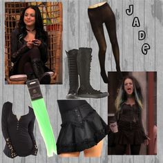 """""""Jade West"""" by Victorius! Edgy Outfits, Grunge Outfits, Cool Outfits, Jade West Victorious, Victorious Cast, Jade West Style, Punk Dress, Character Outfits, Types Of Fashion Styles"""