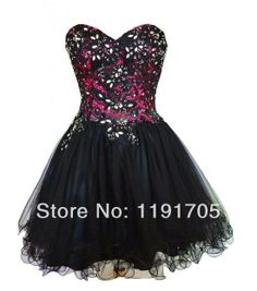 Sunvary Black Lace Sweetheart Short Cocktail Homecoming Dresses Evening Gowns - US Size Black Cute Homecoming Dresses, Elegant Bridesmaid Dresses, Prom Dress 2014, Prom Gowns, Ball Gowns, Evening Dresses, Dresses 2014, Elegant Dresses, Dresses Short