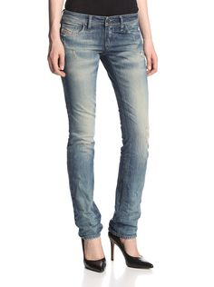 Lowky. Yup, your classic low key Diesel's distressed straight leg.