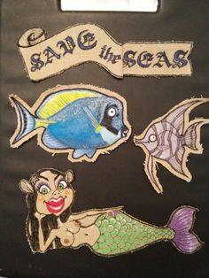 Diseño para tattoo, save the seas