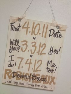 Cute sign for a shower or party