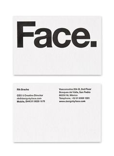Face — Design by Face. in Business Card
