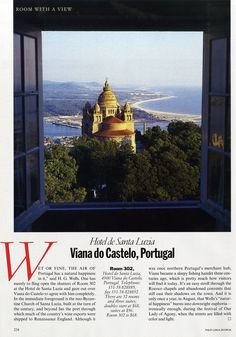 "25 Years of ""Room with a View"" Photos : Condé Nast Traveler::  ROOM 302  VIANA DO CASTELO, PORTUGAL  April 1993"