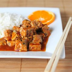 General Tso's Tempeh. vegan glutenfree