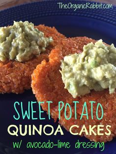 sweet potato quinoa cake paleo gluten free vegan protein dairy free avocado Also good no in patty form. Veggie Recipes, Whole Food Recipes, Vegetarian Recipes, Cooking Recipes, Healthy Recipes, Cheap Recipes, Quinoa Cake, Healthy Snacks, Healthy Eating