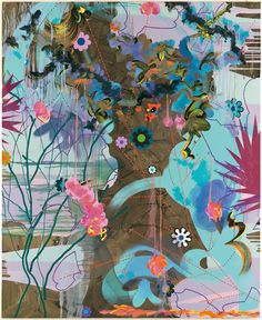 Painting by Fiona Rae. #art #flower #painting
