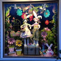 Silks and Crafts Easter window display 2014