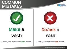 ' make a wish ' COMMON MISTAKES