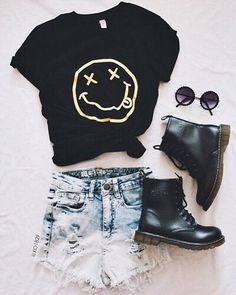 nirvana, outfit, and black image
