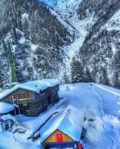Ayder'de kış manzarası