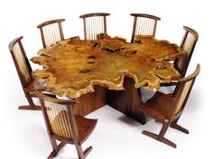 Arlyn Table  George Nakashima Arlyn Table, 1988 Redwood  American Black Walnut, East Indian Laurel, Madrona Burl  Est. $300/500,000. Sold for $822,400 (Record for the designer at auction.)