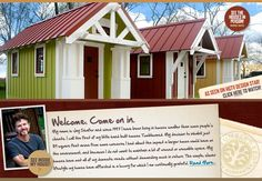 Tiny houses - cabin plans!  Guest Cottages