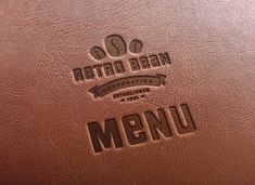 Leather Embossing on Menu