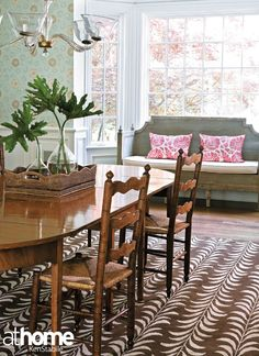 We love this natural light-filled dining room!