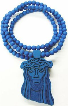 Jesus Piece New Good Wood Goodwood Replica Pendant & 36 Inch Necklace - Blue GWOOD. $14.99. Jesus piece pendant and 36 inch wood bead necklace. Light Weight. Clear Detail and Smooth Back. Wood Bead Chain And Pendant. All Natural Wood. Save 75% Off!