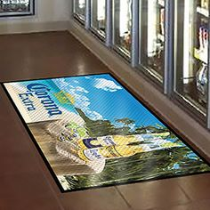 Make a great first impression on your customers with a custom floor mat! To order, contact Liz at Liz@trophiesinc.com! #promotional #corporategifts #branding #pointofpurchase #entry #foyer #instoredisplay #pointofpurchase #decal #store #product #businessideas #displaiIdeas