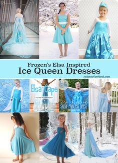 Elsa Ice Queen dress tutorials and ideas Ice Queen Dress, Sewing Kids Clothes, Sewing For Kids, Tutorial Cosplay, Little Girl Dresses, Girls Dresses, Costura Diy, Frozen Elsa Dress, Costumes