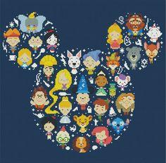 Disney Character Minis by StitchandaSong on Etsy
