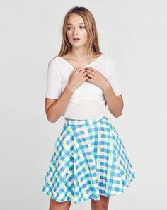 GORGEOUS GINGHAM, Lazy Oaf Pineapple Gingham Skirt