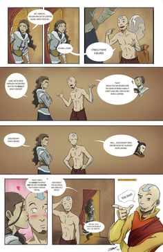 "Aang's beard by http://rice-claire.deviantart.com/: ""A couple of my friends and I were talking about how weird it is to see Aang in a beard. That inspired me to come up with this short back story. Enjoy!"""