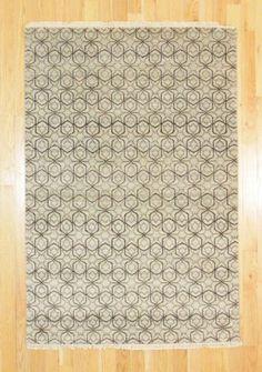 4' X 6' Contemporary Hand Knotted Rug
