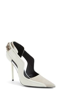 L.A.M.B. 'Enforce' Leather & Suede Pointy Toe Pump (Women) | Nordstrom