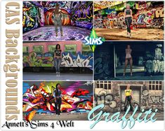 "Annett's Sims 4 Welt: CAS Backgrounds ""Graffiti"""