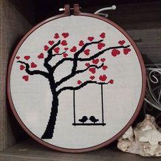#etamin #kanavice #crossstitch #agac #kus #tree #bird#hobinisat