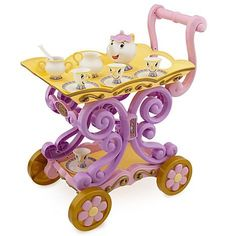 @Jess Liu Barron -its plastic but still stinkin cute. Disneys Princess Belle Enchanted Talking Tea Cart Mrs. Potts and Chip , http://www.amazon.com/dp/B00A52AGFW/ref=cm_sw_r_pi_dp_a8Birb0KW3WRY
