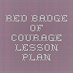 Red Badge of Courage lesson plan