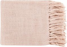 "Surya TID006-5951 59"" X 51"" Indoor Throw Blanket From The Tilda Collection Pink Home Decor Throws Throw Blankets"