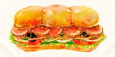 Junk Food, A Food, Food And Drink, Asian Recipes, Real Food Recipes, Ethnic Recipes, Sandwich Drawing, Food Art Painting, Food Cartoon