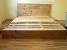 pinterest diy platform bed platform bed frame and headboard set modern rustic - Diy Kingsizekopfteil Plne