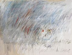 Cy Twombly, Untitled 1972. / Oil based house paint, wax crayon and lead pencil on canvas