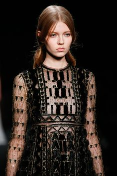 """""""Details. Triangles."""" Valentino Fall 2015 RTW Collection - Style.com. Long live fashion: LÜR Nail presents the best designer runway looks of the Paris Autumn/Winter 2015 Collections."""