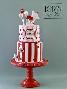 Carnival theme Birthday Cake by Lori Mahoney (Lori's Custom Cakes)