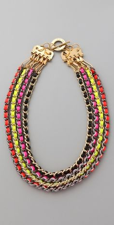 Cc Skye Neon Multi Chain Necklace thestylecure.com