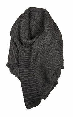 Cozy knit shawl