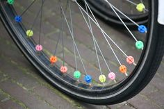 Bike spoke beads!!!!! Me parece estar viendo mi bici!!!!!!!