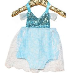 Frozen Elsa Winter Wonderland Sparkle Romper