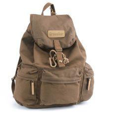 Delux Vintage Canvas DSLR Camera Backpack Carry Bag Case Rucksack+Rain Cover