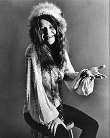 Janis Joplin - (January 19, 1943 – October 4, 1970) was an American singer-songwriter, who first rose to prominence in the late 1960s as the lead singer of the psychedelic-acid rock band Big Brother and the Holding Company, and later as a solo artist with her more soulful and bluesy backing groups, The Kozmic Blues Band and The Full Tilt Boogie Band. She was one of the more popular acts at the Monterey Pop Festival and later became one of the major attractions to the Woodstock festival.