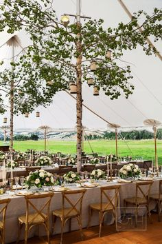 After obsessing over every single photo from this Montana wedding, I'm adding The Ranch at Rock Creek to the top of my wanderlust list right away. From the tent poles covered with birch tree bark to stunning florals by Habitat Floral Studio, Marquee Wedding, Tent Wedding, Chic Wedding, Elegant Wedding, Summer Wedding, Wedding Details, Wedding Reception, Wedding Rustic, Birch Tree Wedding