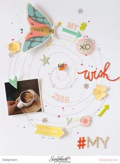 PHOTO + PAPER + STAMP = CRAFTTIME!!!: LAYOUT - MY WISH